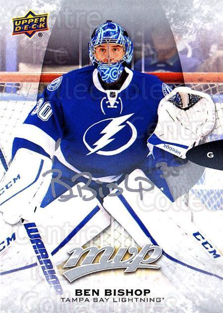 2016-17 Upper Deck MVP Silver Script #3 Ben Bishop<br/>1 In Stock - $2.00 each - <a href=https://centericecollectibles.foxycart.com/cart?name=2016-17%20Upper%20Deck%20MVP%20Silver%20Script%20%233%20Ben%20Bishop...&quantity_max=1&price=$2.00&code=717233 class=foxycart> Buy it now! </a>