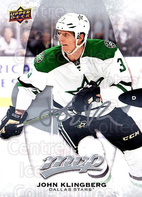 2016-17 Upper Deck MVP Silver Script #10 John Klingberg<br/>2 In Stock - $2.00 each - <a href=https://centericecollectibles.foxycart.com/cart?name=2016-17%20Upper%20Deck%20MVP%20Silver%20Script%20%2310%20John%20Klingberg...&quantity_max=2&price=$2.00&code=717234 class=foxycart> Buy it now! </a>