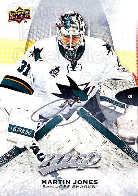 2016-17 Upper Deck MVP Silver Script #16 Martin Jones<br/>1 In Stock - $2.00 each - <a href=https://centericecollectibles.foxycart.com/cart?name=2016-17%20Upper%20Deck%20MVP%20Silver%20Script%20%2316%20Martin%20Jones...&quantity_max=1&price=$2.00&code=717239 class=foxycart> Buy it now! </a>