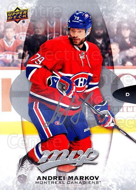 2016-17 Upper Deck MVP Silver Script #161 Andrei Markov<br/>2 In Stock - $2.00 each - <a href=https://centericecollectibles.foxycart.com/cart?name=2016-17%20Upper%20Deck%20MVP%20Silver%20Script%20%23161%20Andrei%20Markov...&quantity_max=2&price=$2.00&code=717329 class=foxycart> Buy it now! </a>