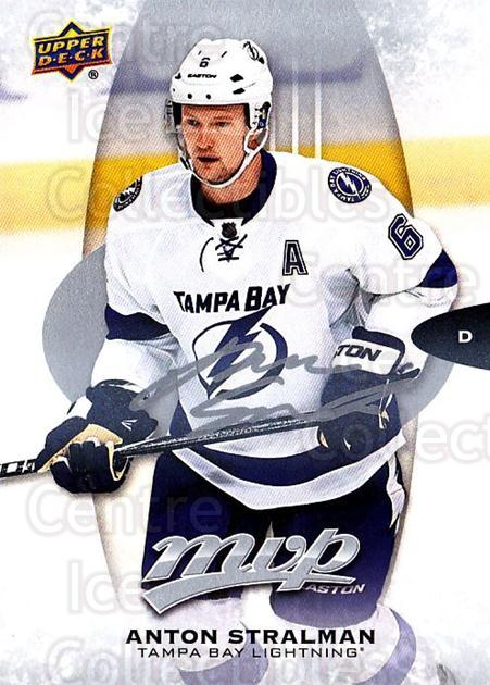 2016-17 Upper Deck MVP Silver Script #13 Anton Stralman<br/>1 In Stock - $2.00 each - <a href=https://centericecollectibles.foxycart.com/cart?name=2016-17%20Upper%20Deck%20MVP%20Silver%20Script%20%2313%20Anton%20Stralman...&quantity_max=1&price=$2.00&code=717345 class=foxycart> Buy it now! </a>