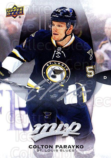 2016-17 Upper Deck MVP Silver Script #77 Colton Parayko<br/>1 In Stock - $2.00 each - <a href=https://centericecollectibles.foxycart.com/cart?name=2016-17%20Upper%20Deck%20MVP%20Silver%20Script%20%2377%20Colton%20Parayko...&quantity_max=1&price=$2.00&code=717360 class=foxycart> Buy it now! </a>