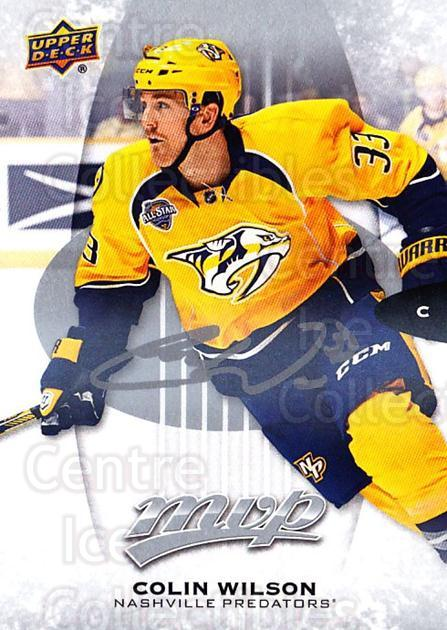 2016-17 Upper Deck MVP Silver Script #94 Colin Wilson<br/>1 In Stock - $2.00 each - <a href=https://centericecollectibles.foxycart.com/cart?name=2016-17%20Upper%20Deck%20MVP%20Silver%20Script%20%2394%20Colin%20Wilson...&quantity_max=1&price=$2.00&code=717365 class=foxycart> Buy it now! </a>