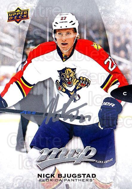 2016-17 Upper Deck MVP Silver Script #142 Nick Bjugstad<br/>1 In Stock - $2.00 each - <a href=https://centericecollectibles.foxycart.com/cart?name=2016-17%20Upper%20Deck%20MVP%20Silver%20Script%20%23142%20Nick%20Bjugstad...&quantity_max=1&price=$2.00&code=717374 class=foxycart> Buy it now! </a>