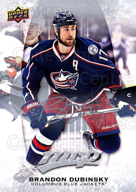 2016-17 Upper Deck MVP Silver Script #165 Brandon Dubinsky<br/>2 In Stock - $2.00 each - <a href=https://centericecollectibles.foxycart.com/cart?name=2016-17%20Upper%20Deck%20MVP%20Silver%20Script%20%23165%20Brandon%20Dubinsk...&quantity_max=2&price=$2.00&code=717381 class=foxycart> Buy it now! </a>