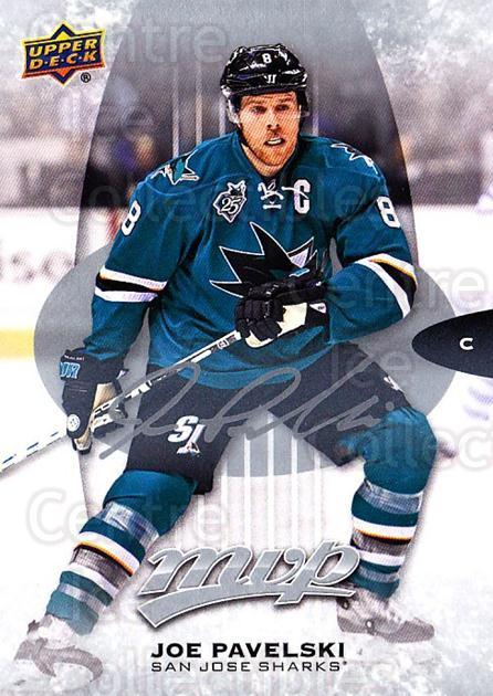 2016-17 Upper Deck MVP Silver Script #185 Joe Pavelski<br/>1 In Stock - $2.00 each - <a href=https://centericecollectibles.foxycart.com/cart?name=2016-17%20Upper%20Deck%20MVP%20Silver%20Script%20%23185%20Joe%20Pavelski...&quantity_max=1&price=$2.00&code=717387 class=foxycart> Buy it now! </a>