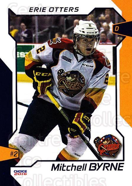 2015-16 Erie Otters #3 Mitchell Byrne<br/>1 In Stock - $3.00 each - <a href=https://centericecollectibles.foxycart.com/cart?name=2015-16%20Erie%20Otters%20%233%20Mitchell%20Byrne...&price=$3.00&code=718027 class=foxycart> Buy it now! </a>