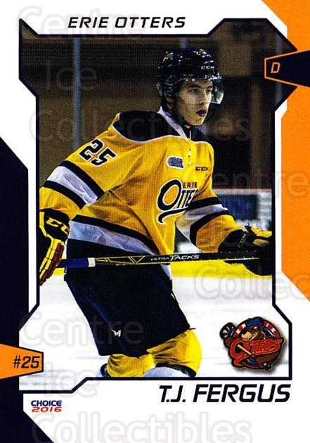 2015-16 Erie Otters #9 TJ Fergus<br/>1 In Stock - $3.00 each - <a href=https://centericecollectibles.foxycart.com/cart?name=2015-16%20Erie%20Otters%20%239%20TJ%20Fergus...&price=$3.00&code=718033 class=foxycart> Buy it now! </a>