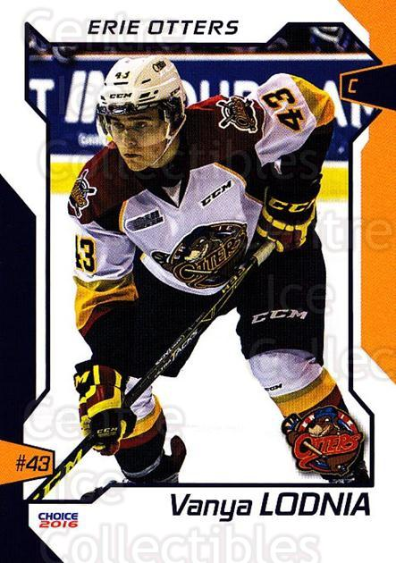 2015-16 Erie Otters #13 Vanya Lodnia<br/>1 In Stock - $3.00 each - <a href=https://centericecollectibles.foxycart.com/cart?name=2015-16%20Erie%20Otters%20%2313%20Vanya%20Lodnia...&price=$3.00&code=718037 class=foxycart> Buy it now! </a>