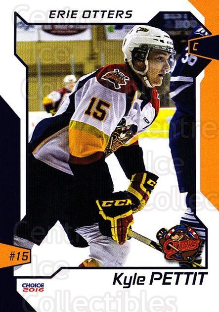 2015-16 Erie Otters #19 Kyle Pettit<br/>1 In Stock - $3.00 each - <a href=https://centericecollectibles.foxycart.com/cart?name=2015-16%20Erie%20Otters%20%2319%20Kyle%20Pettit...&price=$3.00&code=718043 class=foxycart> Buy it now! </a>