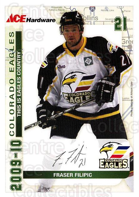 2009-10 Colorado Eagles #3 Fraser Filipic<br/>1 In Stock - $3.00 each - <a href=https://centericecollectibles.foxycart.com/cart?name=2009-10%20Colorado%20Eagles%20%233%20Fraser%20Filipic...&quantity_max=1&price=$3.00&code=718080 class=foxycart> Buy it now! </a>