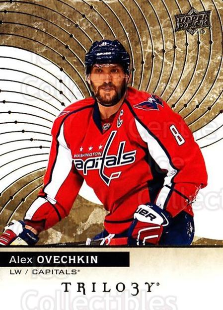 2017-18 UD Trilogy #5 Alexander Ovechkin<br/>2 In Stock - $3.00 each - <a href=https://centericecollectibles.foxycart.com/cart?name=2017-18%20UD%20Trilogy%20%235%20Alexander%20Ovech...&price=$3.00&code=718354 class=foxycart> Buy it now! </a>