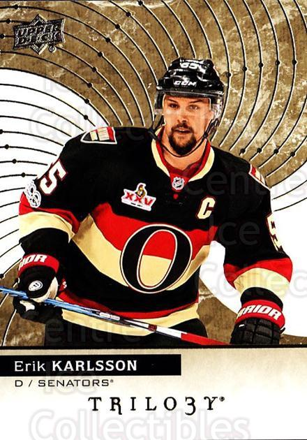 2017-18 UD Trilogy #26 Erik Karlsson<br/>5 In Stock - $3.00 each - <a href=https://centericecollectibles.foxycart.com/cart?name=2017-18%20UD%20Trilogy%20%2326%20Erik%20Karlsson...&quantity_max=5&price=$3.00&code=718374 class=foxycart> Buy it now! </a>