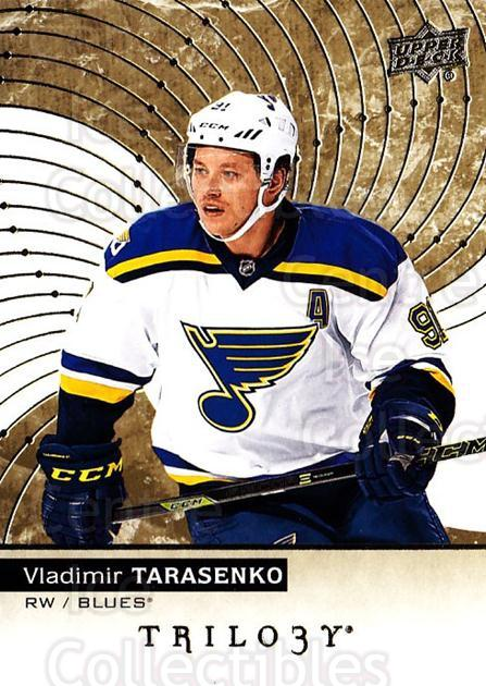 2017-18 UD Trilogy #28 Vladimir Tarasenko<br/>5 In Stock - $3.00 each - <a href=https://centericecollectibles.foxycart.com/cart?name=2017-18%20UD%20Trilogy%20%2328%20Vladimir%20Tarase...&quantity_max=5&price=$3.00&code=718376 class=foxycart> Buy it now! </a>