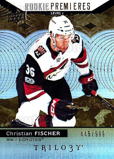 2017-18 UD Trilogy #51 Christian Fischer<br/>1 In Stock - $5.00 each - <a href=https://centericecollectibles.foxycart.com/cart?name=2017-18%20UD%20Trilogy%20%2351%20Christian%20Fisch...&quantity_max=1&price=$5.00&code=718397 class=foxycart> Buy it now! </a>