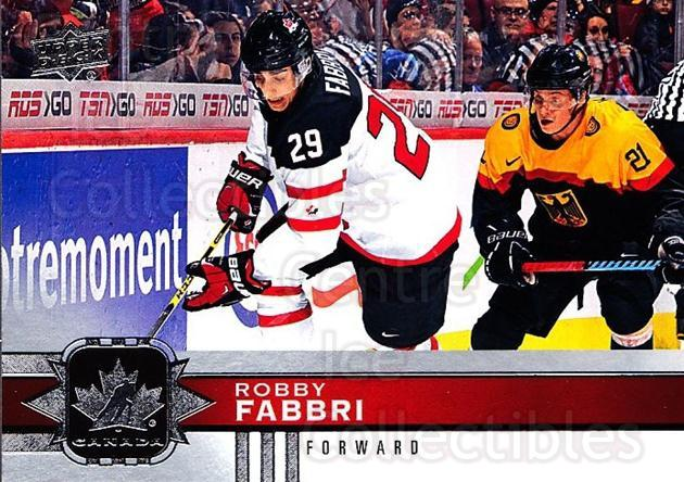2017-18 Upper Deck Team Canada #2 Robby Fabbri<br/>6 In Stock - $1.00 each - <a href=https://centericecollectibles.foxycart.com/cart?name=2017-18%20Upper%20Deck%20Team%20Canada%20%232%20Robby%20Fabbri...&quantity_max=6&price=$1.00&code=718498 class=foxycart> Buy it now! </a>