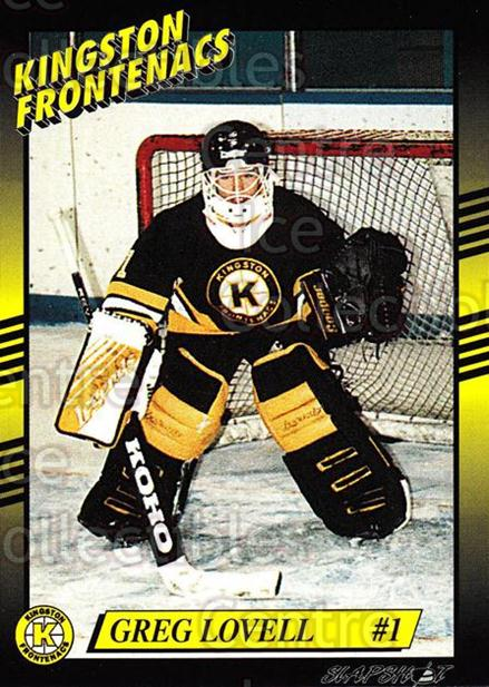 1993-94 Kingston Frontenacs #1 Greg Lovell<br/>3 In Stock - $3.00 each - <a href=https://centericecollectibles.foxycart.com/cart?name=1993-94%20Kingston%20Frontenacs%20%231%20Greg%20Lovell...&price=$3.00&code=7184 class=foxycart> Buy it now! </a>