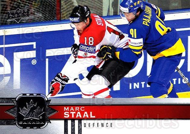 2017-18 Upper Deck Team Canada #49 Marc Staal<br/>6 In Stock - $1.00 each - <a href=https://centericecollectibles.foxycart.com/cart?name=2017-18%20Upper%20Deck%20Team%20Canada%20%2349%20Marc%20Staal...&quantity_max=6&price=$1.00&code=718545 class=foxycart> Buy it now! </a>