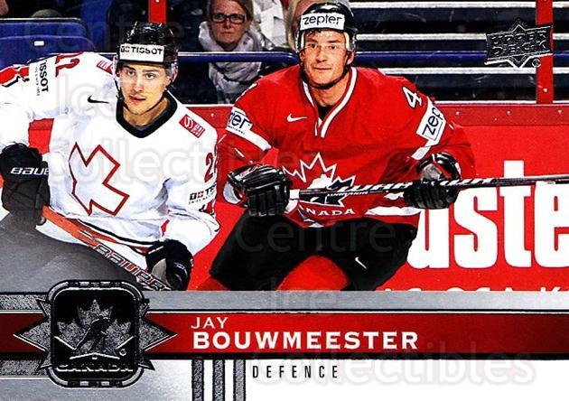 2017-18 Upper Deck Team Canada #53 Jay Bouwmeester<br/>6 In Stock - $1.00 each - <a href=https://centericecollectibles.foxycart.com/cart?name=2017-18%20Upper%20Deck%20Team%20Canada%20%2353%20Jay%20Bouwmeester...&quantity_max=6&price=$1.00&code=718549 class=foxycart> Buy it now! </a>