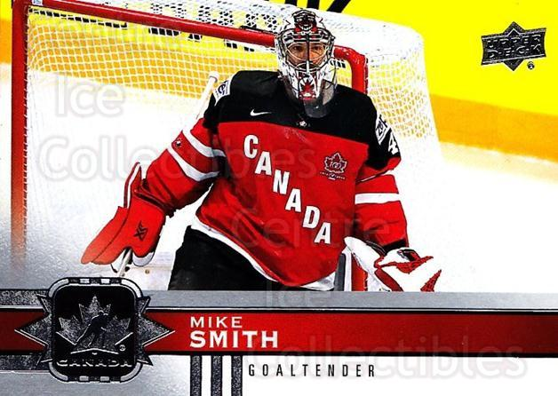 2017-18 Upper Deck Team Canada #59 Mike Smith<br/>3 In Stock - $1.00 each - <a href=https://centericecollectibles.foxycart.com/cart?name=2017-18%20Upper%20Deck%20Team%20Canada%20%2359%20Mike%20Smith...&quantity_max=3&price=$1.00&code=718555 class=foxycart> Buy it now! </a>