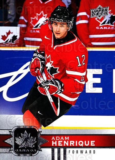 2017-18 Upper Deck Team Canada #60 Adam Henrique<br/>6 In Stock - $1.00 each - <a href=https://centericecollectibles.foxycart.com/cart?name=2017-18%20Upper%20Deck%20Team%20Canada%20%2360%20Adam%20Henrique...&quantity_max=6&price=$1.00&code=718556 class=foxycart> Buy it now! </a>