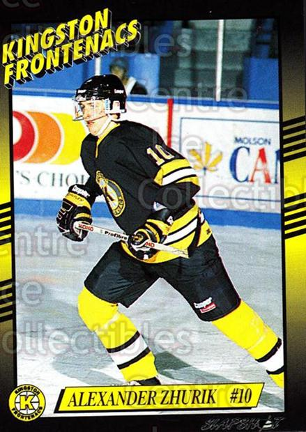 1993-94 Kingston Frontenacs #10 Alexander Zhurik<br/>2 In Stock - $3.00 each - <a href=https://centericecollectibles.foxycart.com/cart?name=1993-94%20Kingston%20Frontenacs%20%2310%20Alexander%20Zhuri...&price=$3.00&code=7185 class=foxycart> Buy it now! </a>