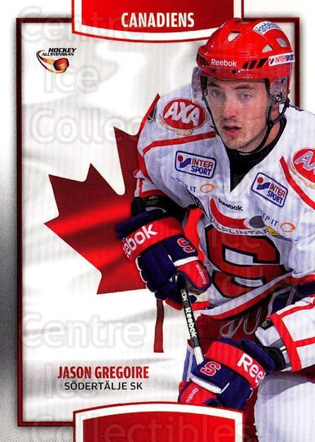 2013-14 Swedish Hockey Allsvenskan Canadiens #7 Jason Gregoire<br/>3 In Stock - $3.00 each - <a href=https://centericecollectibles.foxycart.com/cart?name=2013-14%20Swedish%20Hockey%20Allsvenskan%20Canadiens%20%237%20Jason%20Gregoire...&quantity_max=3&price=$3.00&code=718682 class=foxycart> Buy it now! </a>