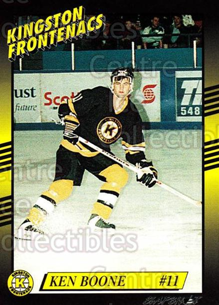 1993-94 Kingston Frontenacs #11 Ken Boone<br/>3 In Stock - $3.00 each - <a href=https://centericecollectibles.foxycart.com/cart?name=1993-94%20Kingston%20Frontenacs%20%2311%20Ken%20Boone...&price=$3.00&code=7186 class=foxycart> Buy it now! </a>