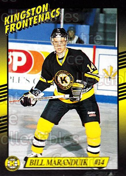 1993-94 Kingston Frontenacs #13 Bill Maranduik<br/>3 In Stock - $3.00 each - <a href=https://centericecollectibles.foxycart.com/cart?name=1993-94%20Kingston%20Frontenacs%20%2313%20Bill%20Maranduik...&price=$3.00&code=7188 class=foxycart> Buy it now! </a>