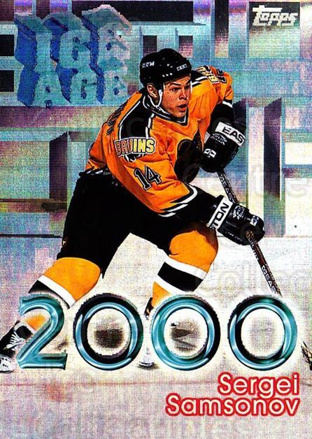 1998-99 Topps Ice Age 2000 #11 Sergei Samsonov<br/>10 In Stock - $2.00 each - <a href=https://centericecollectibles.foxycart.com/cart?name=1998-99%20Topps%20Ice%20Age%202000%20%2311%20Sergei%20Samsonov...&quantity_max=10&price=$2.00&code=71920 class=foxycart> Buy it now! </a>