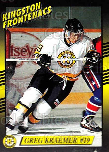 1993-94 Kingston Frontenacs #18 Greg Kraemer<br/>3 In Stock - $3.00 each - <a href=https://centericecollectibles.foxycart.com/cart?name=1993-94%20Kingston%20Frontenacs%20%2318%20Greg%20Kraemer...&price=$3.00&code=7192 class=foxycart> Buy it now! </a>