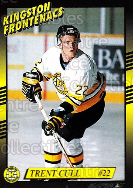 1993-94 Kingston Frontenacs #19 Trent Cull<br/>2 In Stock - $3.00 each - <a href=https://centericecollectibles.foxycart.com/cart?name=1993-94%20Kingston%20Frontenacs%20%2319%20Trent%20Cull...&price=$3.00&code=7193 class=foxycart> Buy it now! </a>