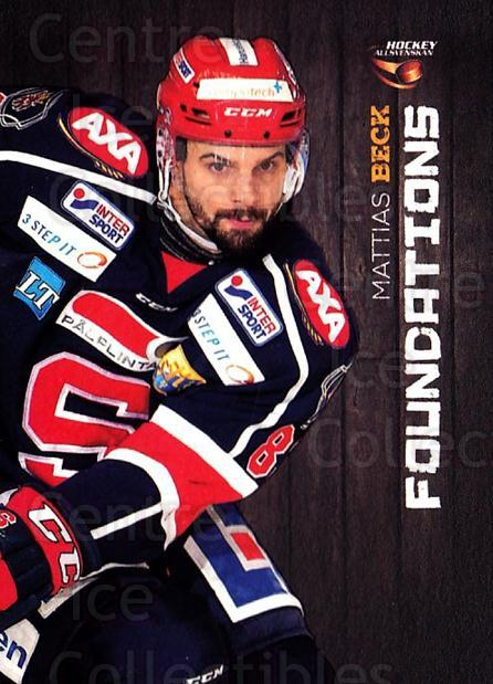 2014-15 Swedish Hockey Allsvenskan Foundations #8 Matthias Beck<br/>5 In Stock - $3.00 each - <a href=https://centericecollectibles.foxycart.com/cart?name=2014-15%20Swedish%20Hockey%20Allsvenskan%20Foundations%20%238%20Matthias%20Beck...&quantity_max=5&price=$3.00&code=719403 class=foxycart> Buy it now! </a>