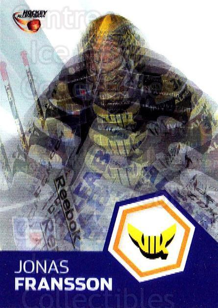 2014-15 Swedish Hockey Allsvenskan Masked Marvels #13 Jonas Fransson<br/>3 In Stock - $3.00 each - <a href=https://centericecollectibles.foxycart.com/cart?name=2014-15%20Swedish%20Hockey%20Allsvenskan%20Masked%20Marvels%20%2313%20Jonas%20Fransson...&quantity_max=3&price=$3.00&code=719418 class=foxycart> Buy it now! </a>