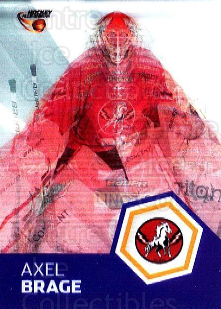 2014-15 Swedish Hockey Allsvenskan Masked Marvels #14 Axel Brage<br/>3 In Stock - $3.00 each - <a href=https://centericecollectibles.foxycart.com/cart?name=2014-15%20Swedish%20Hockey%20Allsvenskan%20Masked%20Marvels%20%2314%20Axel%20Brage...&quantity_max=3&price=$3.00&code=719419 class=foxycart> Buy it now! </a>