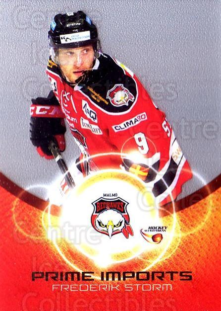 2014-15 Swedish Hockey Allsvenskan Prime Imports #7 Frederik Storm<br/>1 In Stock - $3.00 each - <a href=https://centericecollectibles.foxycart.com/cart?name=2014-15%20Swedish%20Hockey%20Allsvenskan%20Prime%20Imports%20%237%20Frederik%20Storm...&quantity_max=1&price=$3.00&code=719426 class=foxycart> Buy it now! </a>