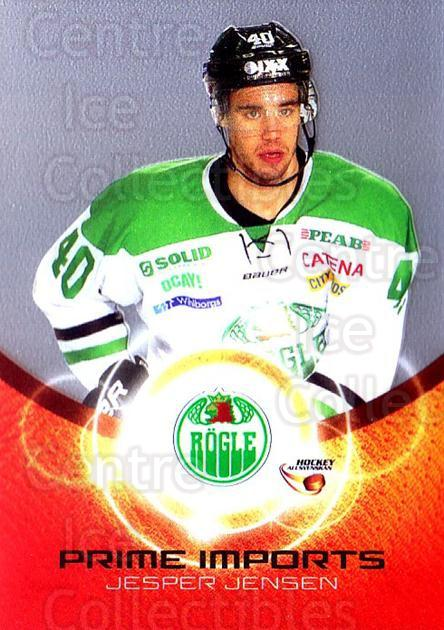 2014-15 Swedish Hockey Allsvenskan Prime Imports #10 Jesper Jensen<br/>2 In Stock - $3.00 each - <a href=https://centericecollectibles.foxycart.com/cart?name=2014-15%20Swedish%20Hockey%20Allsvenskan%20Prime%20Imports%20%2310%20Jesper%20Jensen...&quantity_max=2&price=$3.00&code=719429 class=foxycart> Buy it now! </a>