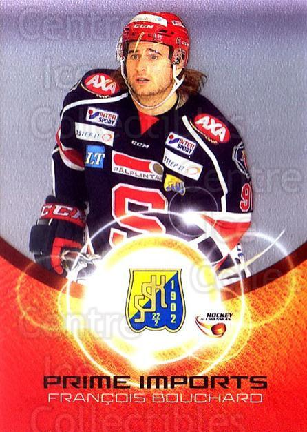 2014-15 Swedish Hockey Allsvenskan Prime Imports #11 Francois Bouchard<br/>1 In Stock - $3.00 each - <a href=https://centericecollectibles.foxycart.com/cart?name=2014-15%20Swedish%20Hockey%20Allsvenskan%20Prime%20Imports%20%2311%20Francois%20Boucha...&quantity_max=1&price=$3.00&code=719430 class=foxycart> Buy it now! </a>