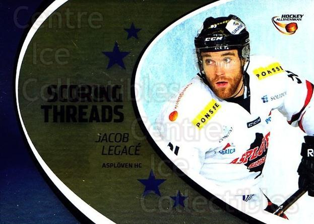 2014-15 Swedish Hockey Allsvenskan Scoring Threads #3 Jacob Legace<br/>1 In Stock - $3.00 each - <a href=https://centericecollectibles.foxycart.com/cart?name=2014-15%20Swedish%20Hockey%20Allsvenskan%20Scoring%20Threads%20%233%20Jacob%20Legace...&quantity_max=1&price=$3.00&code=719436 class=foxycart> Buy it now! </a>