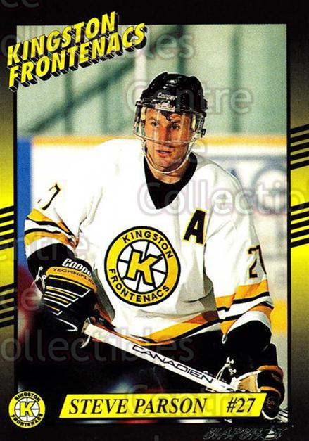 1993-94 Kingston Frontenacs #20 Steve Parson<br/>4 In Stock - $3.00 each - <a href=https://centericecollectibles.foxycart.com/cart?name=1993-94%20Kingston%20Frontenacs%20%2320%20Steve%20Parson...&price=$3.00&code=7195 class=foxycart> Buy it now! </a>