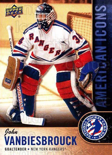 2018 Upper Deck National Hockey Card Day USA #13 John Vanbiesbrouck<br/>7 In Stock - $2.00 each - <a href=https://centericecollectibles.foxycart.com/cart?name=2018%20Upper%20Deck%20National%20Hockey%20Card%20Day%20USA%20%2313%20John%20Vanbiesbro...&quantity_max=7&price=$2.00&code=719674 class=foxycart> Buy it now! </a>