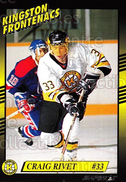 1993-94 Kingston Frontenacs #21 Craig Rivet<br/>4 In Stock - $3.00 each - <a href=https://centericecollectibles.foxycart.com/cart?name=1993-94%20Kingston%20Frontenacs%20%2321%20Craig%20Rivet...&price=$3.00&code=7196 class=foxycart> Buy it now! </a>