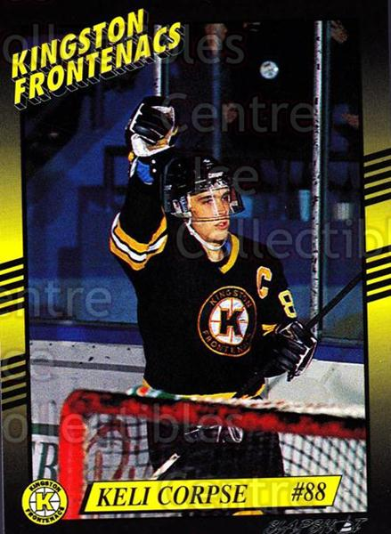 1993-94 Kingston Frontenacs #22 Keli Corpse<br/>2 In Stock - $3.00 each - <a href=https://centericecollectibles.foxycart.com/cart?name=1993-94%20Kingston%20Frontenacs%20%2322%20Keli%20Corpse...&price=$3.00&code=7197 class=foxycart> Buy it now! </a>