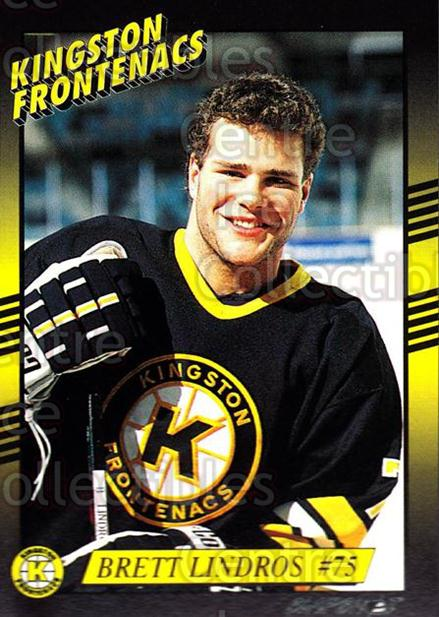 1993-94 Kingston Frontenacs #23 Brett Lindros<br/>1 In Stock - $3.00 each - <a href=https://centericecollectibles.foxycart.com/cart?name=1993-94%20Kingston%20Frontenacs%20%2323%20Brett%20Lindros...&price=$3.00&code=7198 class=foxycart> Buy it now! </a>