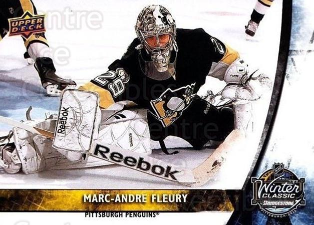 2011-12 Upper Deck Winter Classic #9 Marc-Andre Fleury<br/>2 In Stock - $5.00 each - <a href=https://centericecollectibles.foxycart.com/cart?name=2011-12%20Upper%20Deck%20Winter%20Classic%20%239%20Marc-Andre%20Fleu...&quantity_max=2&price=$5.00&code=719985 class=foxycart> Buy it now! </a>