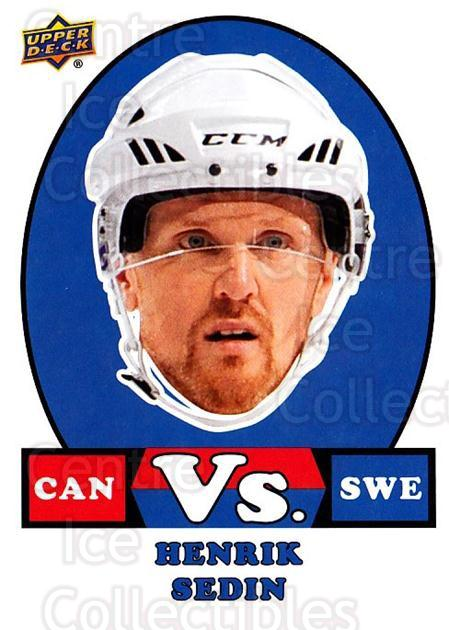 2017-18 Upper Deck Team Canada vs #17 Henrik Sedin<br/>1 In Stock - $3.00 each - <a href=https://centericecollectibles.foxycart.com/cart?name=2017-18%20Upper%20Deck%20Team%20Canada%20vs%20%2317%20Henrik%20Sedin...&quantity_max=1&price=$3.00&code=720014 class=foxycart> Buy it now! </a>