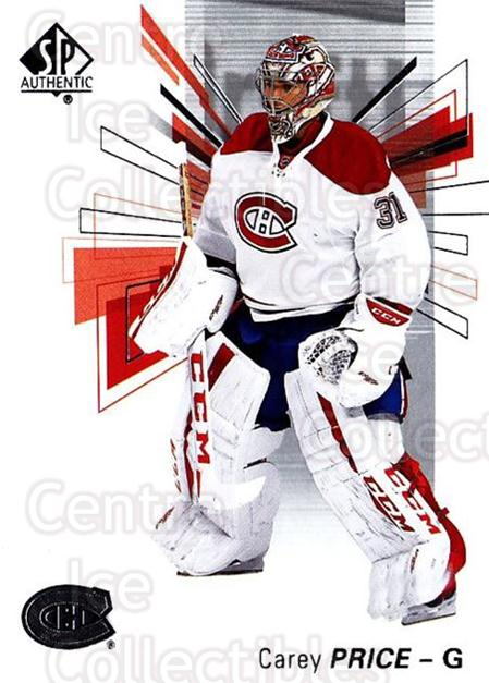 2016-17 Sp Authentic #31 Carey Price<br/>10 In Stock - $3.00 each - <a href=https://centericecollectibles.foxycart.com/cart?name=2016-17%20Sp%20Authentic%20%2331%20Carey%20Price...&quantity_max=10&price=$3.00&code=720052 class=foxycart> Buy it now! </a>