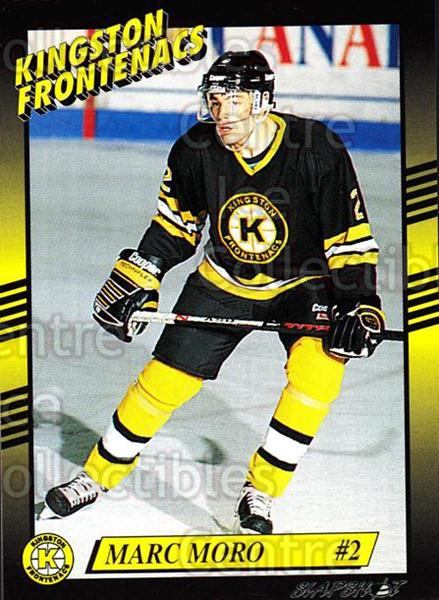 1993-94 Kingston Frontenacs #4 Marc Moro<br/>1 In Stock - $3.00 each - <a href=https://centericecollectibles.foxycart.com/cart?name=1993-94%20Kingston%20Frontenacs%20%234%20Marc%20Moro...&price=$3.00&code=7201 class=foxycart> Buy it now! </a>