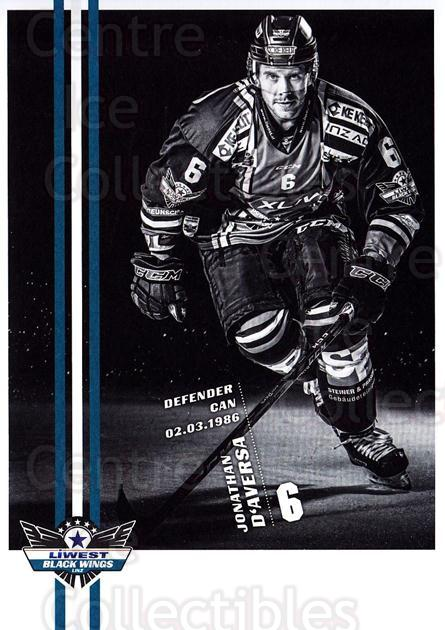 2017-18 EBEL EHC Liwest Black Wings Linz Postcards #7 Jonathan D'aversa<br/>1 In Stock - $3.00 each - <a href=https://centericecollectibles.foxycart.com/cart?name=2017-18%20EBEL%20EHC%20Liwest%20Black%20Wings%20Linz%20Postcards%20%237%20Jonathan%20D'aver...&quantity_max=1&price=$3.00&code=720252 class=foxycart> Buy it now! </a>