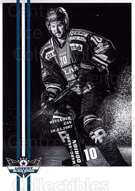 2017-18 EBEL EHC Liwest Black Wings Linz Postcards #8 Marc-Andre Dorion<br/>1 In Stock - $3.00 each - <a href=https://centericecollectibles.foxycart.com/cart?name=2017-18%20EBEL%20EHC%20Liwest%20Black%20Wings%20Linz%20Postcards%20%238%20Marc-Andre%20Dori...&quantity_max=1&price=$3.00&code=720253 class=foxycart> Buy it now! </a>